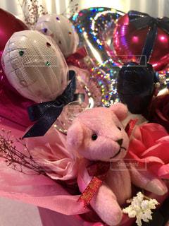 ピンク,リボン,バルーン,マスコット,クマ,りぼん