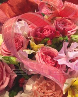 花,ピンク,花束,綺麗,バラ,薔薇,リボン,キレイ,りぼん