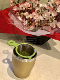 緑茶でほっと一息の写真・画像素材[1046598]