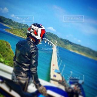 角島大橋へツーリングの写真・画像素材[1016384]