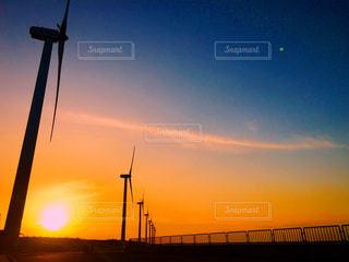 風力発電の風車の写真・画像素材[1268852]