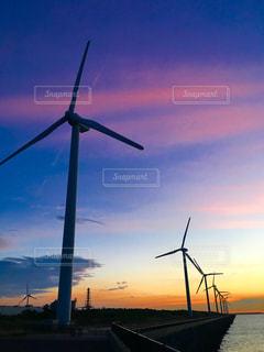 響灘風力発電の写真・画像素材[1424847]