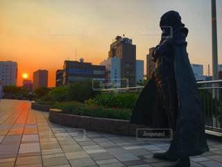 都市の彫像の写真・画像素材[3481202]