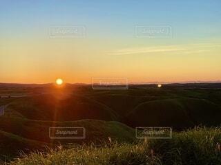 自然,風景,空,屋外,朝日,草原,景色,阿蘇,日の出