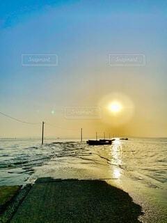 自然,風景,海,空,屋外,太陽,朝日,日の出