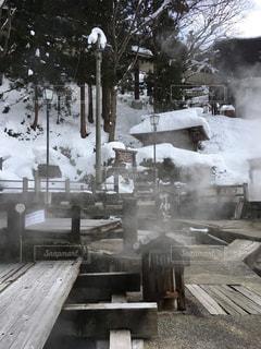 温泉,雪,野沢温泉スキー場,麻釜