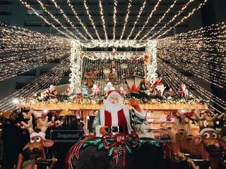 建物,冬,クリスマス,広場,オブジェ,サンタ,装飾,イルミ