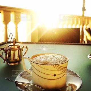カフェ,夕日,コーヒー,カプチーノ,珈琲,休日,葉山,コーヒーカップ,コーヒーブレイク