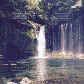 自然,青,滝,旅行