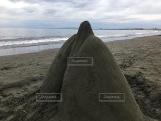 海,空,イルカ,砂浜,旅行,サンドアート