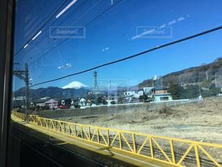 富士山,電車,晴れ,休日,小田急線