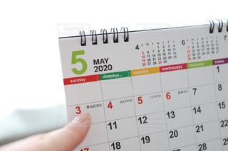 カレンダーのクローズアップの写真・画像素材[3067478]