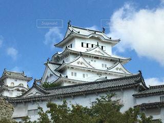 姫路城の天守閣の写真・画像素材[1013814]