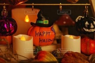 ハロウィンの飾り付けの写真・画像素材[3803405]