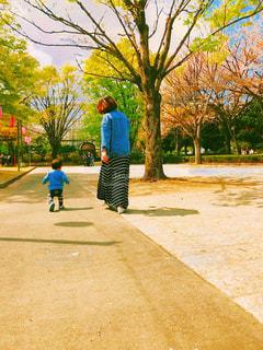 公園でスケート ボードに乗って少年 - No.1108460