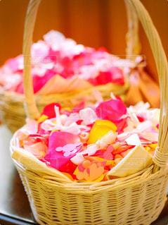 花,屋内,ピンク,赤,結婚式,ハート,リボン,wedding,flower,フラワーシャワー