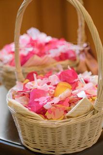 花,LOVE,屋内,ピンク,結婚式,リボン,前撮り,ピンク色,pink,フラワーシャワー,ウェディング
