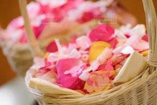 屋内,木,ピンク,赤,綺麗,ハート,リボン,可愛い,ミッキー,フラワーシャワー,カゴ