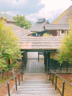 風景,空,建物,木,屋外,階段,綺麗,散歩,古民家