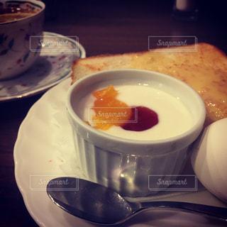 コーヒー,朝食,トースト,ヨーグルト,料理,優雅な朝食