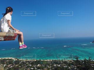 海,絶景,アメリカ,観光,崖,旅行,ポニーテール,ハワイ,ナイキ,山登り,aloha,ピルボックス