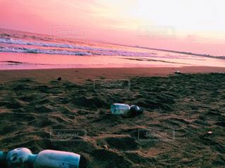 海,砂浜,夕暮れ,散歩,海岸,休日