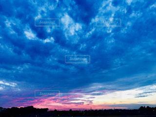 風景,空,夕日,ピンク,青,夕焼け,景色,夕陽