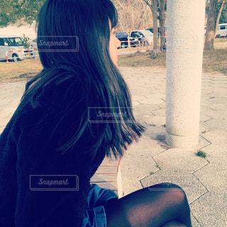 悩み多き少女。の写真・画像素材[1024126]