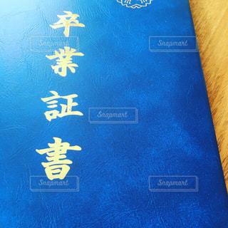 近くに青い壁のアップの写真・画像素材[1063186]