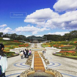 花と緑の公園🌷の写真・画像素材[1096502]