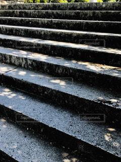 木陰の階段の写真・画像素材[2156013]