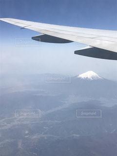 飛行機から見える富士山の写真・画像素材[1012744]