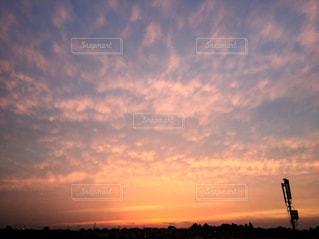自然,空,夕日,ピンク,青,オレンジ,光,癒し,フォトジェニック