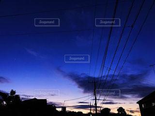 自然,空,夕日,雲,青,家,癒し