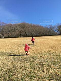 空,屋外,草,元気,未来,休日,かけっこ