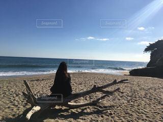 うのしまヴィラ前のプライベートビーチの写真・画像素材[1016564]