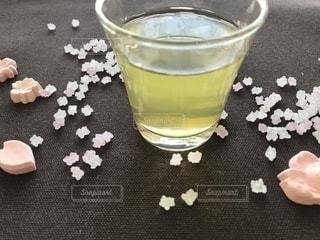 桜とお茶との写真・画像素材[1055854]