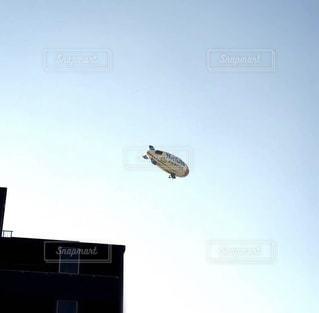大型の飛行機が空を飛んでいます。の写真・画像素材[1207209]