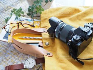 カメラとお出かけの写真・画像素材[1663226]