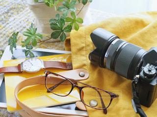 カメラと一緒の写真・画像素材[1663230]