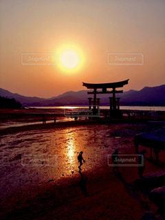 宮島の夕暮れの写真・画像素材[1025183]
