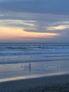 海,夕日,ビーチ,波,サンセット,バリ