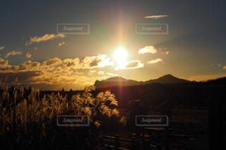 秋,夕日,絶景,屋外,撮影,観光,ススキ,旅行,写真,奈良,曽爾高原,星スポット