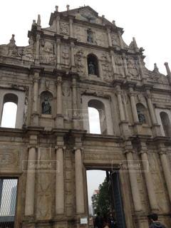 マカオ 聖ポール天主堂跡の写真・画像素材[1020461]