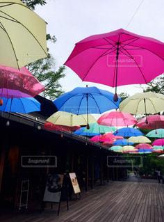 カラフルな傘の写真・画像素材[1020591]