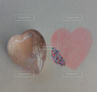 ピンク,ハート,モザイク,石,宝石,天然石,並ぶ,淡い,クリスタル,色鉛筆画
