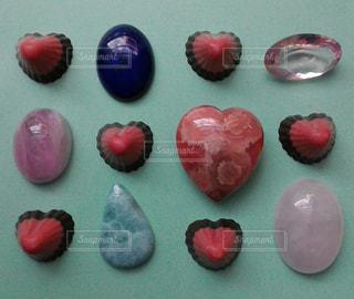 スイーツ,赤,ハート,チョコレート,石,チョコ,宝石,レッド,天然石,クリスタル,アポロ,ストーンスイーツ