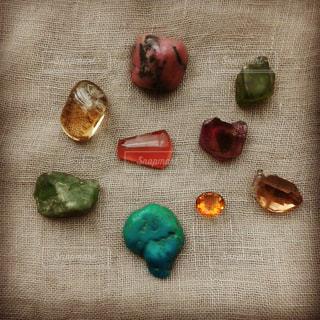 秋の石の写真・画像素材[1565139]