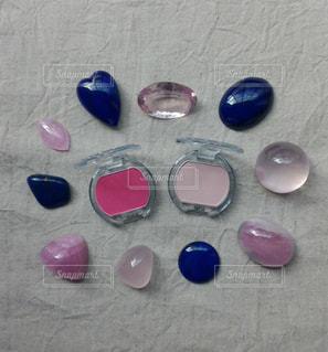 ピンクとブルーの写真・画像素材[1573871]