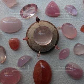 天然石まち針ピンクjの写真・画像素材[2127716]